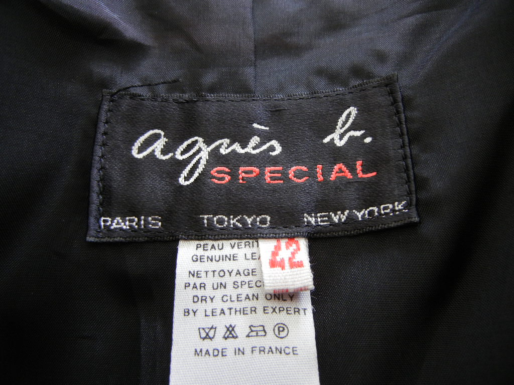 Details about AGNES B. leather jacket 6 light weight year round